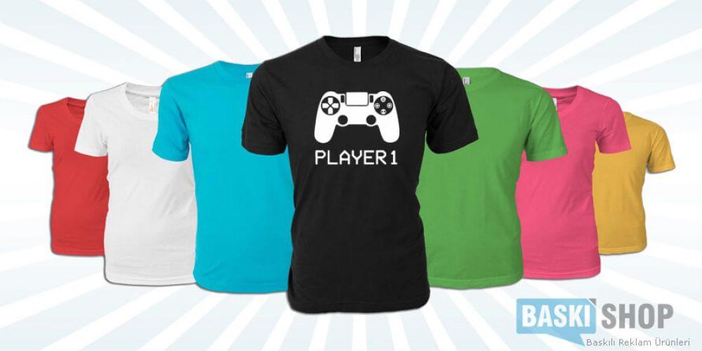 Özel Baskılı Tişört ( Player 1 )